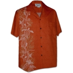 Chemise Hawaienne HYPPOCAMPUS AND TURTLES (orange)