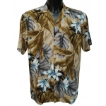 Chemise hawaienne ORCHID JUNGLE BEIGE
