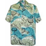 Chemise Hawaienne SEA STAR GREEN