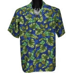Chemise hawaienne TROPICAL MOMENTS BLEU