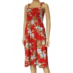Robe Hawaienne PALI ORCHID Rouge