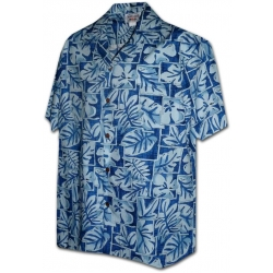 Chemise Hawaienne BLUE SHADOW