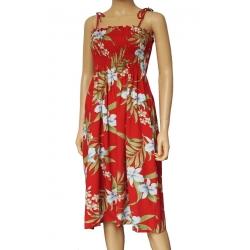 Robe hawaienne à fleurs