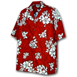 Chemise Hawaienne RED HAWAII